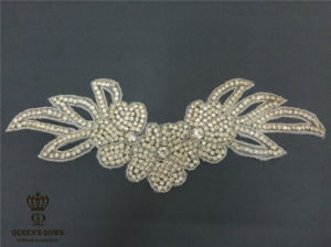 Handmade Beaded Wedding Dress A Grade Rhinestone Belts, Trim