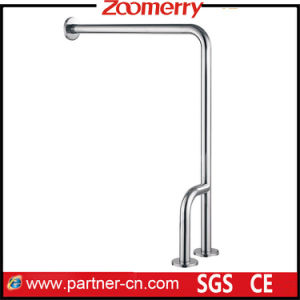 Stainless Steel 304 L Shape to Floor Washroom Grab Bar pictures & photos