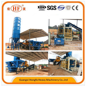 Automatic Hydraulic Hollow Paving Concrete Block Brick Making Machine pictures & photos