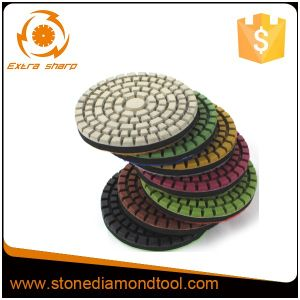 80 mm Concrete Flexible Resin Hook Diamond Floor Polishing Pads pictures & photos