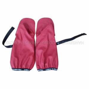 PU Red Solid Reflective Rainwear for Children/Baby pictures & photos