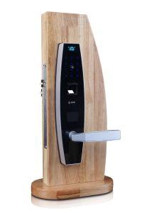 Popular Combination Fingerprint Keypad Password RFID Door Locks pictures & photos