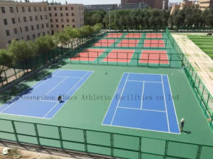 Synthetic Silicon PU ITF Tennis Court Flooring pictures & photos