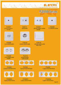 European Standard Two Gang One-Way Light Switch pictures & photos
