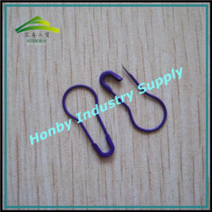 Dark Purple Color Gourd Shape Coilless Safety Pins for Knitting or Crocheting (P160725A)