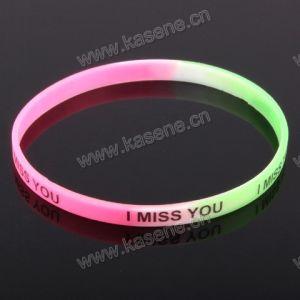 Wholesale Custom Logo Print Fashion Multicolour Rubber Bracelets Personalized pictures & photos