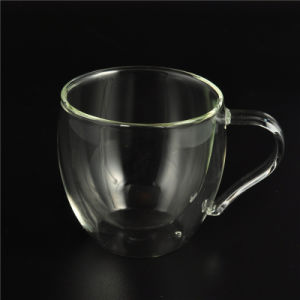 Borosilicate Double Wall Glass Coffee Cup pictures & photos