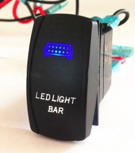 12V Two-Color LED Light Rocker Switch ABS Waterproof pictures & photos