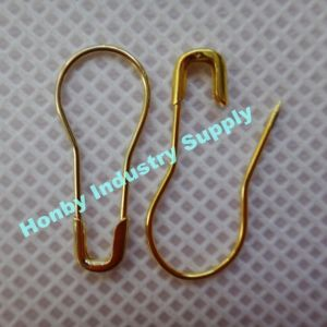 22mm Shine Gold Color Bulb Coiless Safety Pins pictures & photos