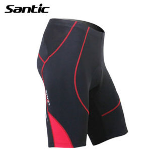 Santic Red Men′s Cycling Shorts & 3D Padded Riding Half Pants