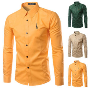 Hot Men′s Stylish 100%Polyester Dress Shirts (A430) pictures & photos
