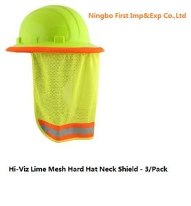 Hi-Viz Lime Mesh Hard Hat Neck Shield (DFV1999) pictures & photos