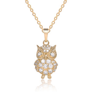 Lady Fashion Jewelry Cubic Zircon Owl Pendant Necklace pictures & photos