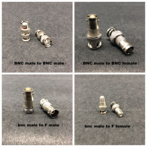 Coaxial BNC Male to 9.5mm TV Female Rg F Connector pictures & photos