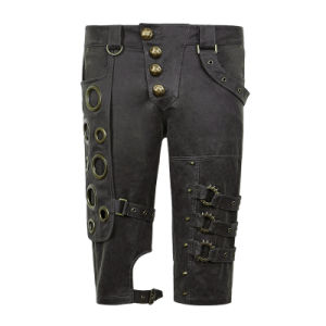K-242 Spring Unique Designs Black Rock Gothic Slim Men Shorts pictures & photos