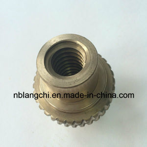 High Precision Customized Trapezoidal Aluminum Bronze Worm Wheel Nut Tr40X7 pictures & photos