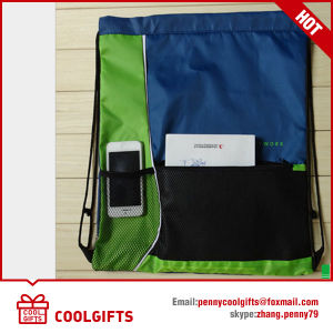 2016 New 210d Polyester Customized Drawstring Bag for Promotion Gift pictures & photos