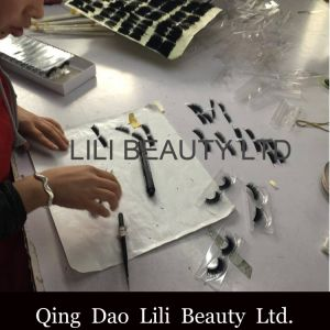 Lilibeauty 2017 Knot Free 5D Pre Made Volume Fans Individual Eyelash Flare Cluster 5D Lotus Volume Lashes Jar Bulk Loose 5D Lashes pictures & photos