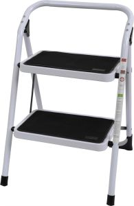 Ladder with Wide Metal Steps Non-Slip 2 Steps Steel pictures & photos