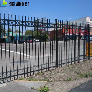 Powder Coated Spear Top Metal Steel Fence pictures & photos