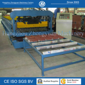 ISO Steel Roof Tile Cold Roll Forming Machine pictures & photos