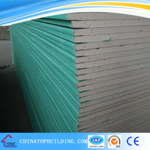 Moisture Resistance Gypsum Board/Plasterboard/Drywall Board pictures & photos