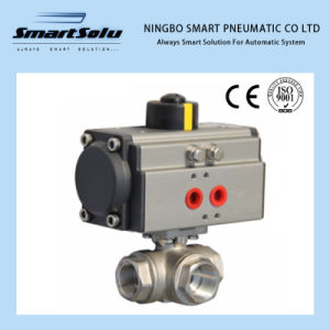 Stainless Steel Pneumatic Ball Valve Pneumatic Actuator for Pipe pictures & photos