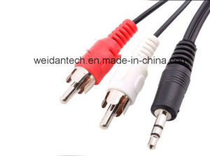 3.5stereo to 2RCA Auido Cable, pictures & photos