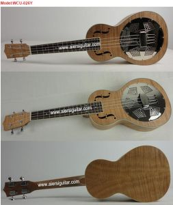 BV/SGS Certificate Supplier---China Aiersi High Quality Okoume Body Resonator Ukulele with Aquila String pictures & photos
