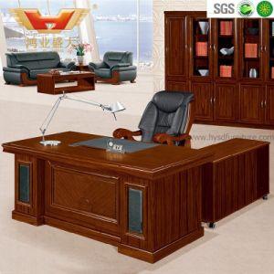 Antique Wood Medium Density Fibre Board Office Executive Desk