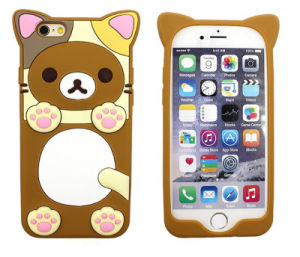 Cartoon Lovers Rilakkuma Button Silicone Phone Case for Samsung Galaxy J5 J7 P8 P9 (XSDW-001)