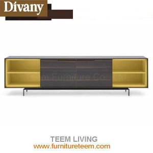 Solid Wood Panel Living Room Furniture TV Cabinet pictures & photos