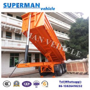25cbm Tri-Axle Front Lifting Rear Dump Tipping Trailer Sale to Vietnam pictures & photos