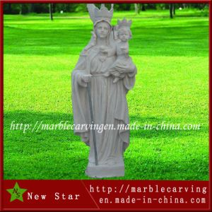 Customized Carved Large Garden White Marble Cemetery Statues pictures & photos