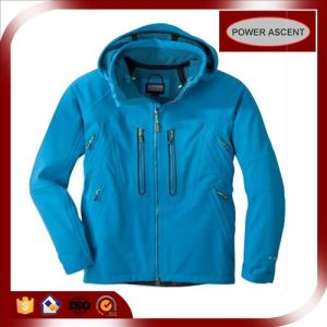 2015 Mens Blue Thiner Two-Ways Zipper Waterproof Outdoor Jacket pictures & photos