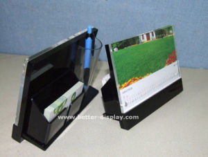Custom Plastic Acrylic Pocket Notebook with Pen Holder pictures & photos
