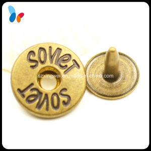 Custom Logo Hole Cap Vintage Metal Brass Round Rivet pictures & photos