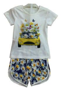 Flower Children Clothes in Kids Suit with Print in Shorts Sq-6674 pictures & photos