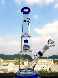 Wholesale Factory Hb-K39 15inch 60diameter 5thickness Stereo Matrix Percolator Glass Smoking Water Pipe pictures & photos