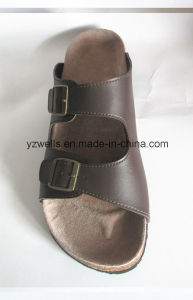 Men Leather Sandals Slippers