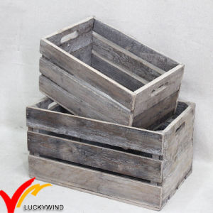 Vintage Antique Handmade Rustic Old Recycled Wooden Fruit Crates for Sale pictures & photos