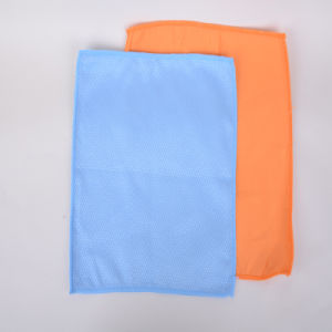 Custom, Ultra-Fine Fiber Cleaning Cloth, Multicolor, Small Grid Pattern pictures & photos
