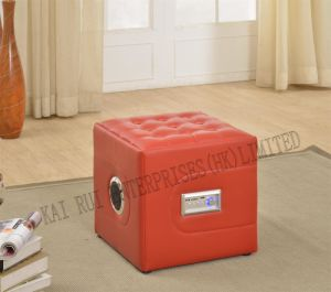 Music Storage Multifunctional Foldable Modern PVC Leather Ottoman