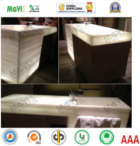 Translucent Artificial Alabaster for Wash Basin pictures & photos