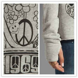 Lady′s Fashion Knitted Crewneck Sweatshirt / Sweater with Thumbhole Design pictures & photos