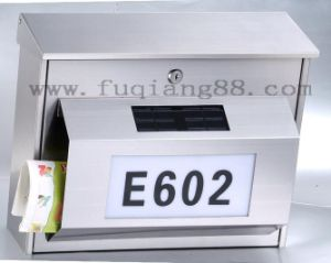 Stainless Steel Solar Mailbox with LED pictures & photos
