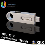 Put Your Own Logo on Your Promotional Gift/ Hotest OTG USB Disk/ USB Flash Drive (UL-OTG001) pictures & photos
