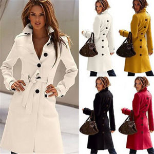 Women′s Cashmere Slim Winter Warm Long Trench Coat Wholesale (50230) pictures & photos
