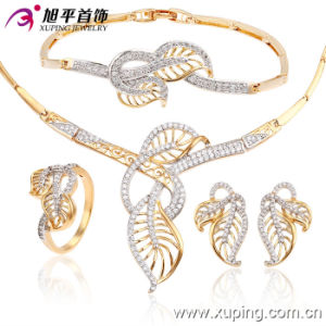Xuping Two Tones Luxury Jewelry Set with CZ Stone (63038) pictures & photos