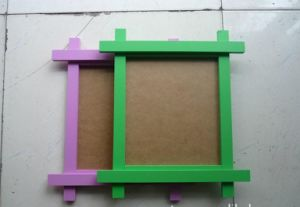 DIY Brown Paper Picture Photo Frame with Hanging Clips and Hemp Ropes pictures & photos